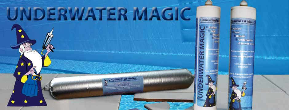 Swimming Pool Caulking Products : Underwater magic the under water adhesive glue and